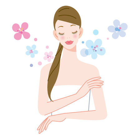 flower bath: Image of the fragrance of the skin care Stock Photo