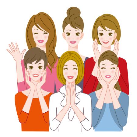rejoice: The women who rejoice Stock Photo