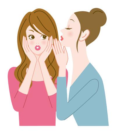 2 women who do a confidential talk