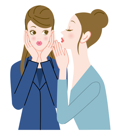 2 women who do a confidential talk2 women who do a confidential talk