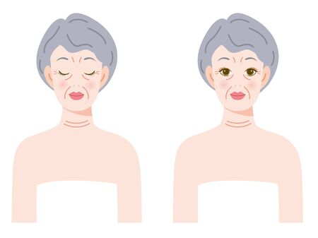 aging woman: Face of the woman who aged