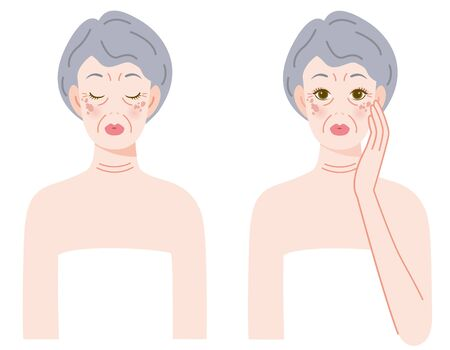 The woman who ages with a stain and wrinkles