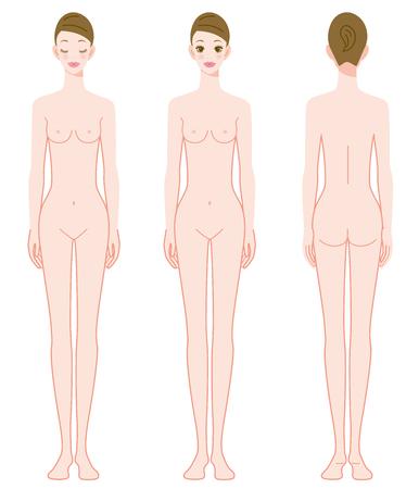 Frau des ganzen Körpers Standard-Bild - 87646307