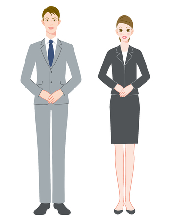 A businessman and businesswoman Stock Photo