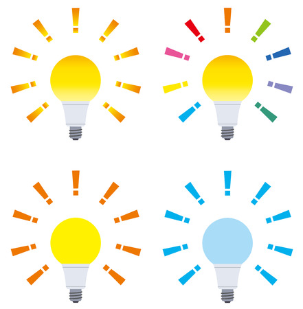 Set of a light bulb vector illustration.