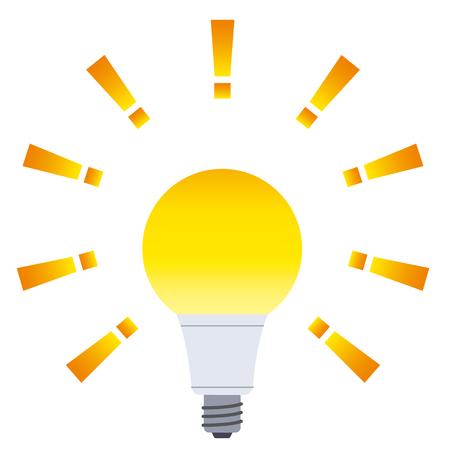 The light of a light bulb Illusztráció
