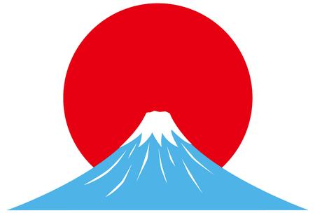 Sunrise and Fuji mountain