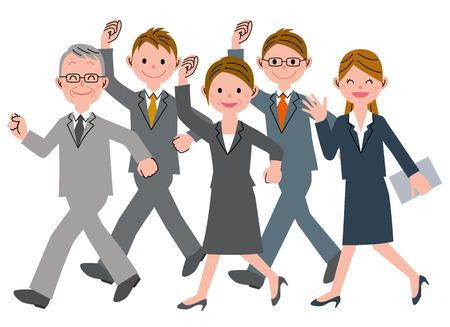 Walking business people 向量圖像