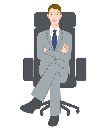 The young man who sits down on a chair with an uneasy face