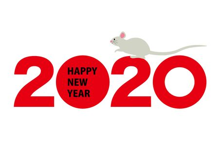 2020 new years card with mouse