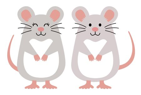 Pretty character of the mouse Ilustracja