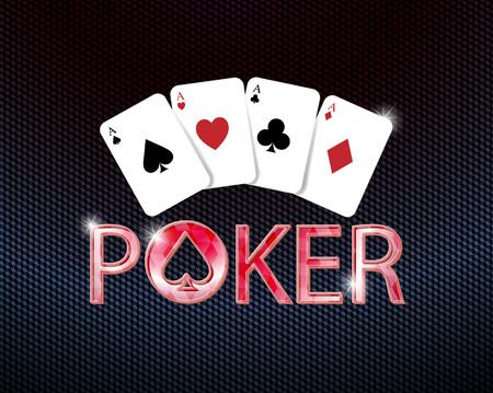 icona del poker con carte da poker