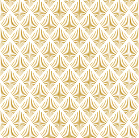 illustration of golden and white seamless pattern in art deco style