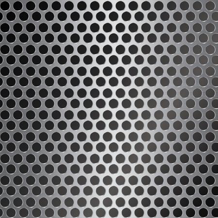 fondo de metal con orificio redondo