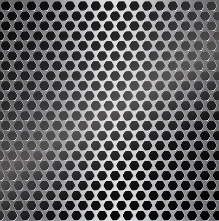 metal: silver metal background with hexagon hole