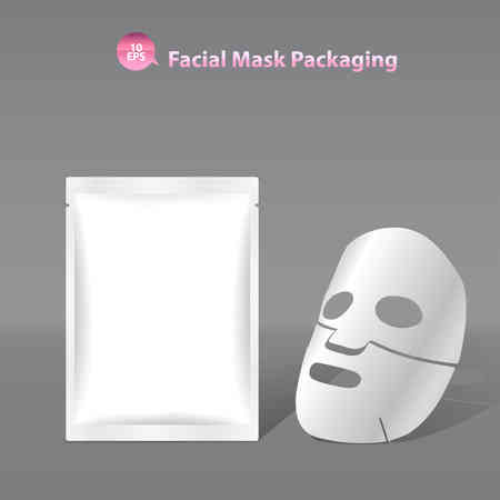 Paper facial mask for cosmetics and Sachet Packaging