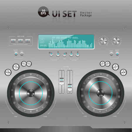 fader: DJ Digital Music Mixer User Interface Set
