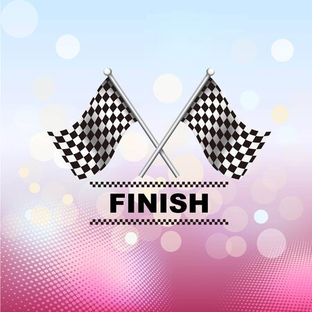 racing checkered flag crossed: Checkered, Chequered Flags Finish Flag Illustration