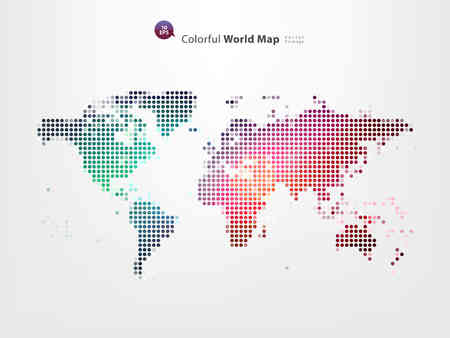 Dotted World Map