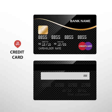 international bank account number: Templates of credit cards design with a polygon background, Isolated