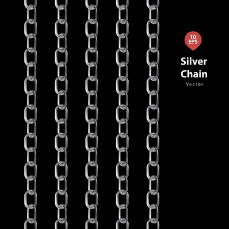 defenseless: Silver chains with black blackground