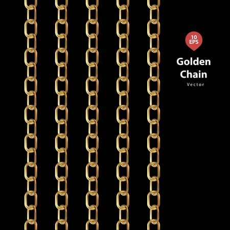 rounding: Golden chains with black blackground