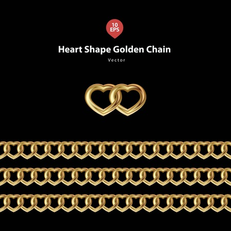men and women: heart shape golden chain