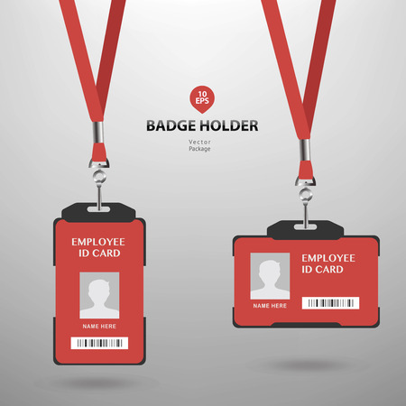 Badge holder with employee ID entrance card