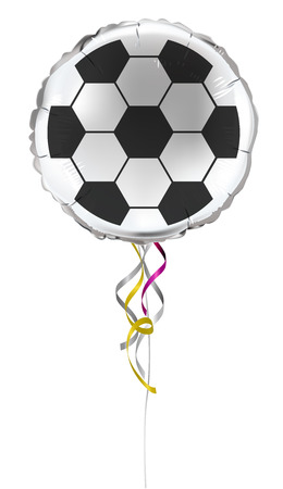 Round shaped foil helium balloons with soccer (football) pattern. Detailed and realistic Vector illustration Illustration