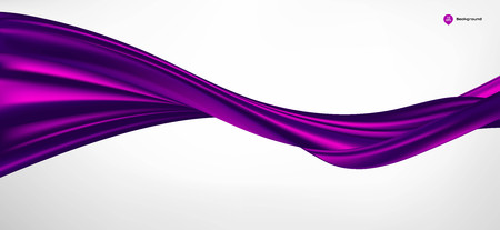 Abstract vector wave silk or satin fabric on white background for grand opening ceremony or other occasion Vetores