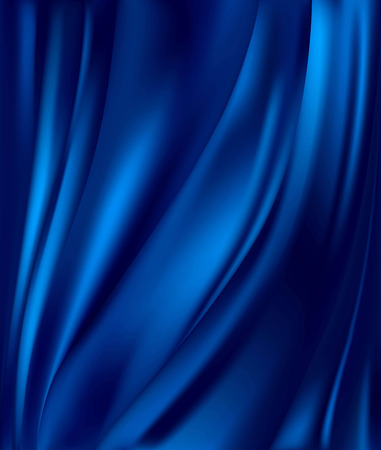 abstract background luxury blue cloth or liquid wave or wavy folds of grunge silk texture satin velvet material or luxurious background or elegant wallpaper Stock Vector - 84296745
