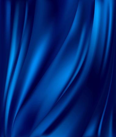 Fondo abstracto paño azul de lujo o onda líquida o pliegues ondulados de grunge textura de seda satinado material de terciopelo o fondo de lujo o fondo de pantalla elegante Ilustración de vector