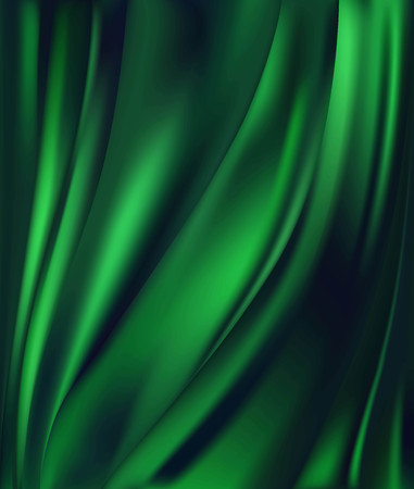 abstract background luxury green cloth or liquid wave or wavy folds of grunge silk texture satin velvet material or luxurious background or elegant wallpaper