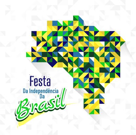 Vector Illustration on September 7, Happy Independence Day of Brazil, (Dia 7 de Setembro, Independencia do Brazil)