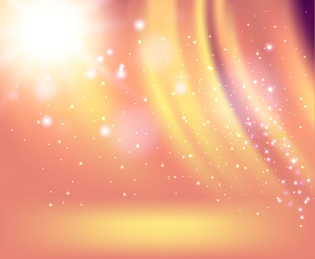 Spotlight on stage with smoke and light with silk background in Vector. Imagens - 115853029