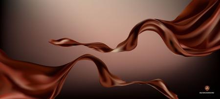 Tejido de seda o satén de onda voladora de vector abstracto con fondo para ceremonia de inauguración u otra ocasión Ilustración de vector