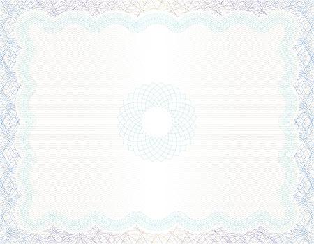 Fond de vecteur guilloché pour la conception de certificats ou de diplômes et de devises