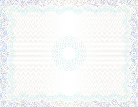 Vector Guilloche background for certificate or diploma and currency design