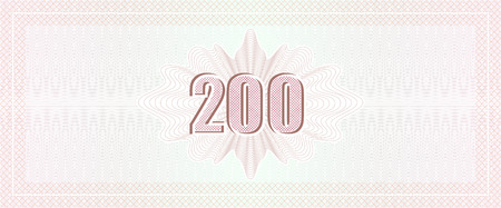 Vector Guilloche background with number fonts. Monetary banknote background.