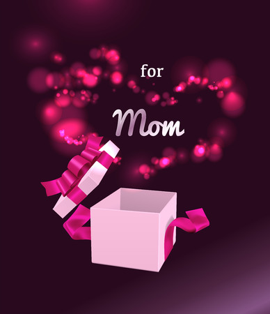 Vector Illustration for Happy Mother's Day. 스톡 콘텐츠 - 121095323