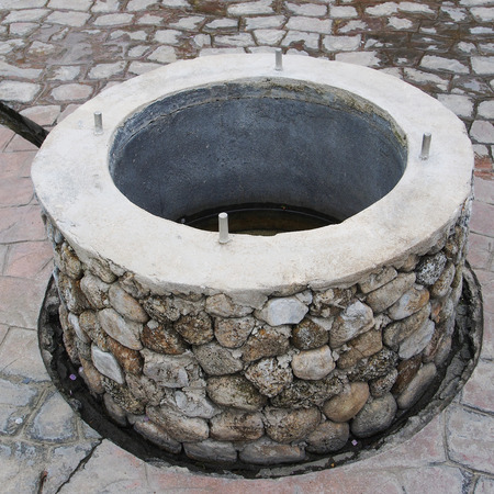 water well: A stone water well
