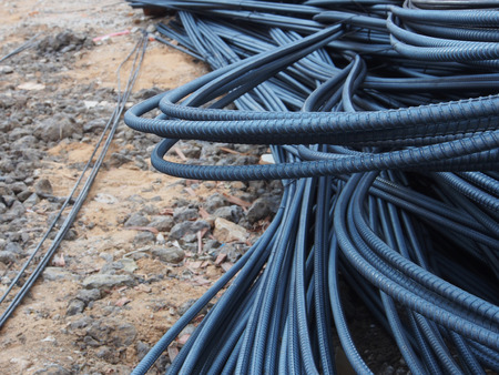 reinforce: Steel rods or bars used to reinforce concrete