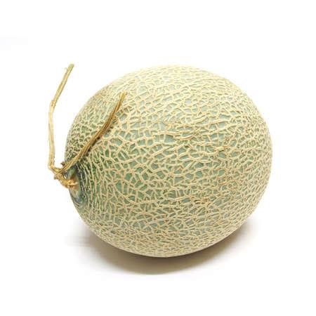 Cantaloupe melon isolated on white background photo