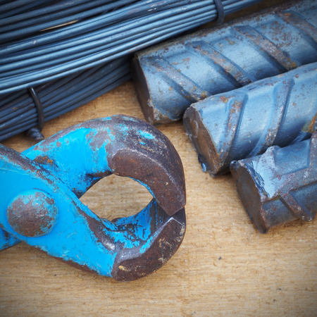 reinforce: Steel rods or bars used to reinforce concrete technicians.