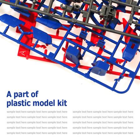 model kit: part of plastic model kit isolated on white background