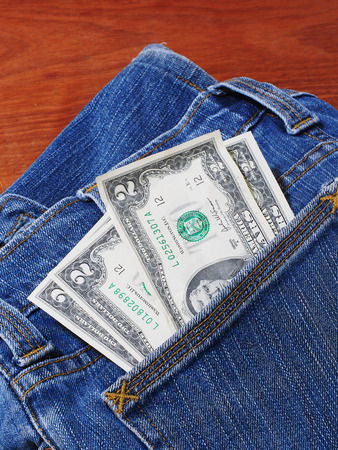 jeans pocket: Money in the jeans pocket