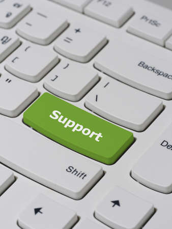 keyboard button: Computer keyboard button with Support text