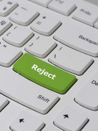 reject: Computer keyboard button with reject text Stock Photo