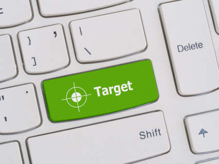 leadership key: Computer keyboard button with target text