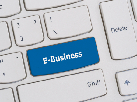 ebusiness: Computer keyboard button with E-Business text